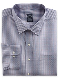 Brooks Brothers Non-Iron Check Broadcloth Dress Shirt