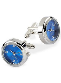 Jan Leslie Blue Watch Cuff Links