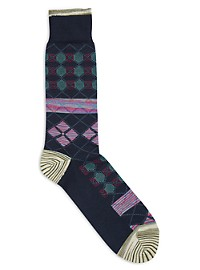 Robert Graham Diamond-Pattern Socks