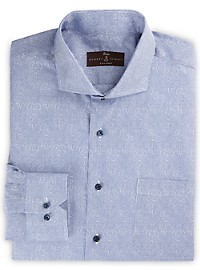 Robert Talbott Printed Stripe Dress Shirt
