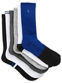Polo Ralph Lauren 6-pk Athletic Crew Socks