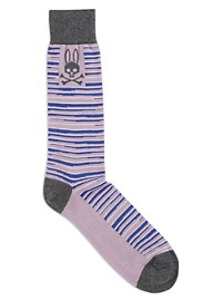 Psycho Bunny Abstract Stripe Socks