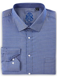 English Laundry Midnight Diamond Geo Dress Shirt