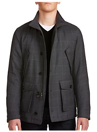 Sanyo Dewar Windowpane 4-Pocket Down Jacket