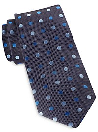 Jack Victor Textured Multicolor Dot Tie