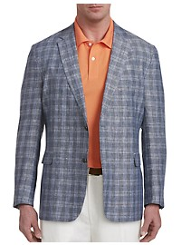 Jean-Paul Germain Deco Plaid Linen Sport Coat