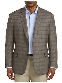 Jean-Paul Germain Deco Windowpane Wool Sport Coat-Executive Cut