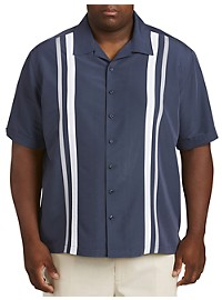 Cubavera Tri Color Panel Camp Shirt