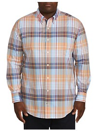 Nautica Stretch Plaid Sport Shirt