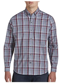 Cutter & Buck Non-Iron Dean Plaid Sport Shirt