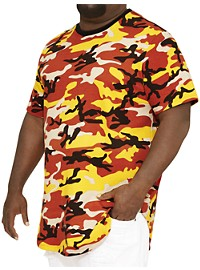 MVP Collections Camo Curved-Hem Tee