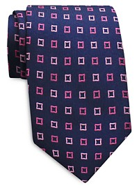 Keys & Lockwood Repeating Diamond Silk Tie