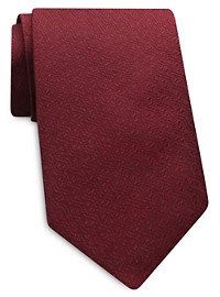 Keys & Lockwood Solid Textured Silk Tie