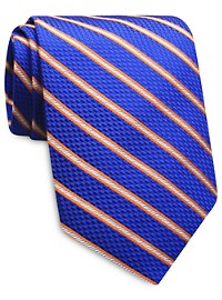 Keys & Lockwood Multicolor Stripe Silk Tie