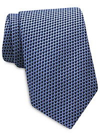 Keys & Lockwood Geo Neat Silk Tie