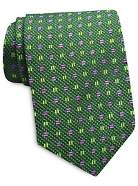 Keys & Lockwood Box Neat Silk Tie