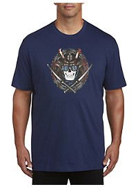 Robert Graham Samurai Skull Graphic Tee