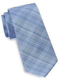Michael Kors Shaded Plaid Tie