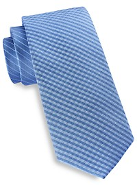 Michael Kors Gingham Stripe Tie