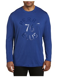 Perry Ellis Tonal Logo Knit T-Shirt
