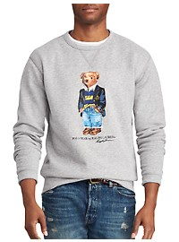Polo Ralph Lauren Polo Bear Stripe Fleece Sweatshirt