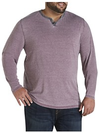 Lucky Brand Burnout Notch V-Neck Shirt