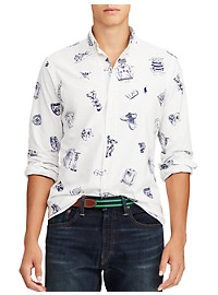 Polo Ralph Lauren Preppy Print Oxford Sport Shirt
