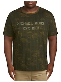 Michael Kors Plaid Camo Graphic T-Shirt