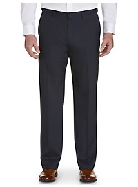 Haggar® Sharkskin Flat-Front Dress Pants