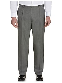 Haggar® Sharkskin Pleated Dress Pants