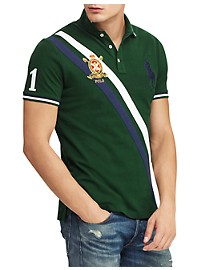 Polo Ralph Lauren Stripe Pony Graphic Polo Shirt
