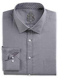 English Laundry Textured Neat Dress Shirt