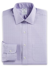 Brooks Brothers Non-Iron Stretch Plaid Dress Shirt