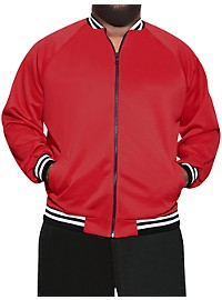 MVP Collections Stretch Stripe Bomber Jacket