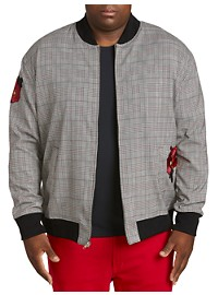 MVP Collections Plaid Bomber Jacket