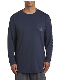 Vineyard Vines Vintage Whale Long-Sleeve Pocket T-Shirt