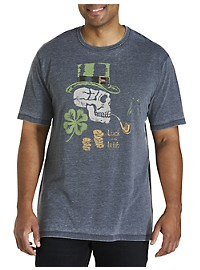 Lucky Brand Leprechaun Skull Graphic Tee