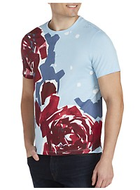 Perry Ellis Floral Graphic Tee