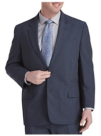 Geoffrey Beene Stretch Windowpane Suit Jacket