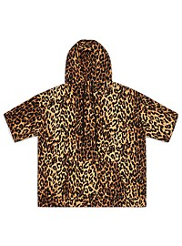 MVP Collections Short-Sleeve Cheetah-Print Pullover Hoodie