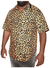 MVP Collections Short-Sleeve Cheetah-Print Sport Shirt