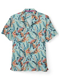 Tommy Bahama Break Wave Fronds IslandZone Camp Shirt