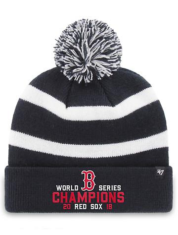 <p>The Boston Red Sox are the World Series Champions!&nbsp;Keep warm and cap off a winning look with this championship style featuring embroidered details.</p><p><ul><li>100% acrylic</li><li>Embroidered front</li><li>Ribbed-knit cuff</li><li>Pom-pom</li><li>Woven knit back</li><li>Fits up to 24 1/2&quot;</li><li> Spot clean only; made in USA</li></ul></p>