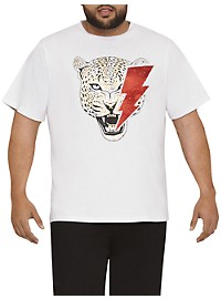 MVP Collections Sequin Tiger Graphic Tee