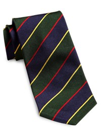 Keys & Lockwood Rep Stripe Tie