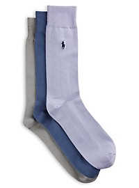 Polo Ralph Lauren 3-pk Supersoft Crew Socks