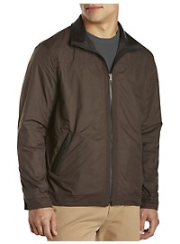Remy Lightweight Leather-Trim Bomber