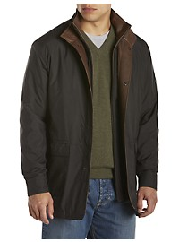Remy Lightweight Leather-Trim Microfiber Jacket