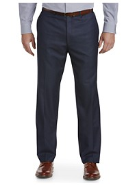Michael Kors Herringbone Flat-Front Suit Pants
