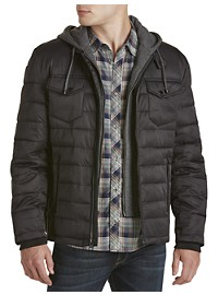 Buffalo David Bitton Quilted Twill Jacket with Removable Hooded Insert